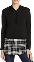 Generation Love Chester Plaid Layered-Look Hoodie