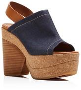 See by Chloe Edith Cork Platform Wedge Sandals