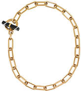Michael Kors Gold-Tone Black Agate Toggle Chain Necklace