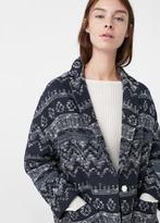 MANGO Textured Coat