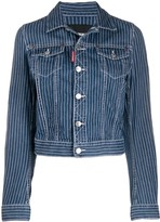 DSQUARED2 pinstripe denim jacket