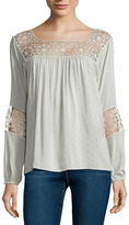 i jeans by Buffalo Long-Sleeve Crochet Blouse