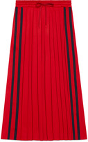 Gucci Pleated technical jersey skirt