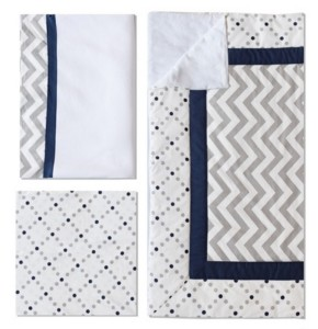 My Baby Sam Out of the Blue 3pc Crib Set Bedding
