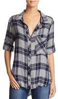 Bella Dahl Frayed-Hem Button-Up Shirt