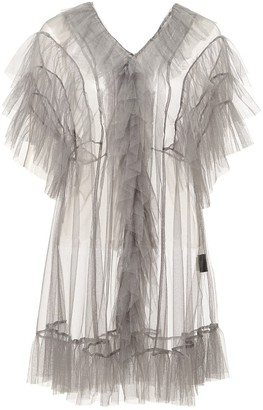 By Moumi Tulle Babydoll Dove Grey