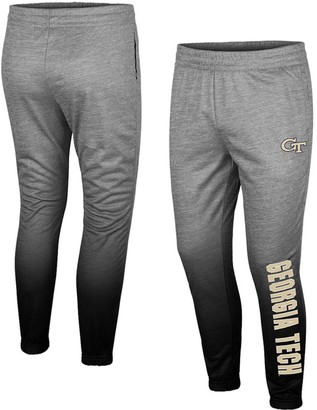 Colosseum Men's Heathered Gray Georgia Tech Yellow Jackets Sitwell Sublimation Fleece Pants