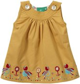 Little Green Radicals Button Flower Dress (Baby) - Sunflower-0-3 Months