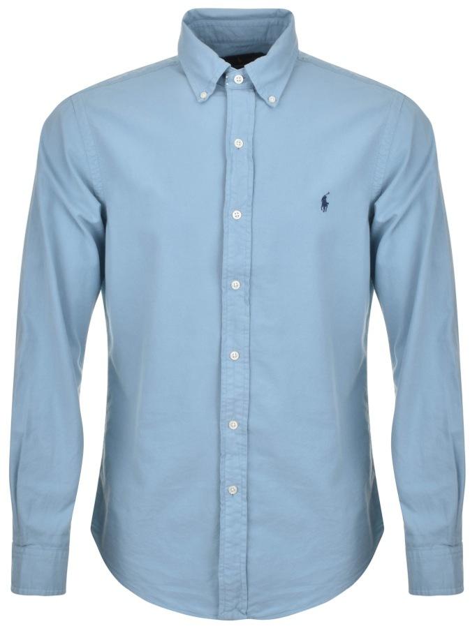 Ralph Lauren Long Sleeved Slim Fit Shirt Blue