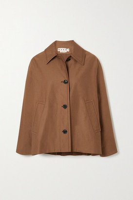 Marni Cotton And Linen-blend Jacket - Brown