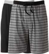 Hanes Men's Classics 2-pk. Striped and Solid Knit Lounge Shorts