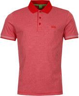 BOSS GREEN Polo Shirt Paddos 50369736 Stripe Red