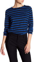 Anne Klein Braided Stripe Long Sleeve Tee