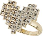 Topshop Rhinestone Pixelated Heart Ring