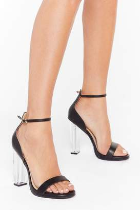 Nasty Gal Womens See Through Their Lies Wide Fit Transparent Heels - black - 3