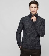 Reiss Armour - Funnel Neck Jumper in Blue, Mens