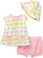 Offspring Daisy Top, Short, & Hat Set (Baby Girls)
