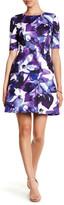 Vince Camuto Print Scuba Fit & Flare Dress (Petite)