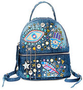 Steve Madden Tasha Patch Accented Denim Backpack