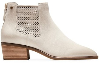 Cole Haan Val Perforated Suede Ankle Boots