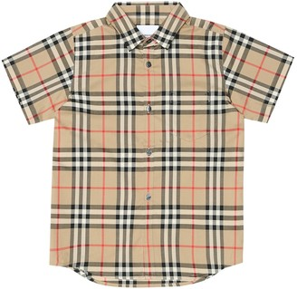 BURBERRY KIDS Check cotton shirt