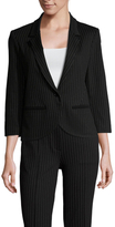 ABS by Allen Schwartz Pinstripe Notch Lapel Blazer