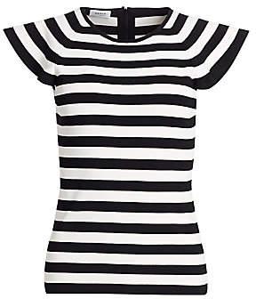 Akris Punto Women's Flounce-Sleeve Striped Tee