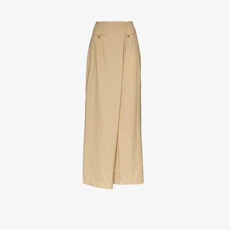 A.W.A.K.E. Mode Asymmetric Maxi Skirt
