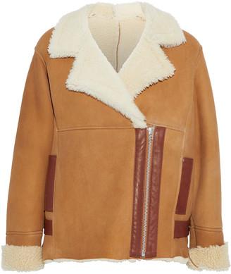 Karl Donoghue Leather-trimmed Shearling Coat