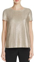 Lafayette 148 New York Metallic Crewneck Top
