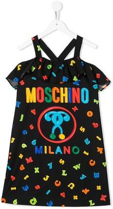 MOSCHINO BAMBINO Letter Print Dress