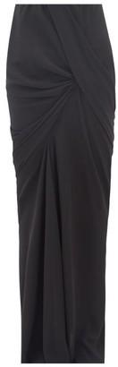 Rick Owens Seb Draped Crepe Maxi Skirt - Womens - Black
