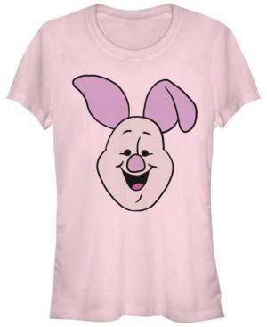 Fifth Sun Women's Winnie the Pooh Piglet Big Face Short Sleeve T-shirt