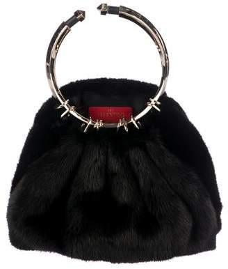 Valentino Mink Bebop Loop Bag