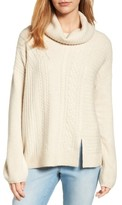 Women's Caslon Cabled Cowl Neck Pullover