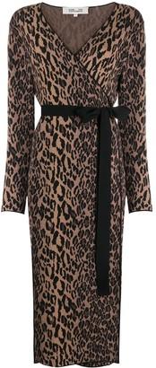 Dvf Diane Von Furstenberg Leopard Print Wrap Dress