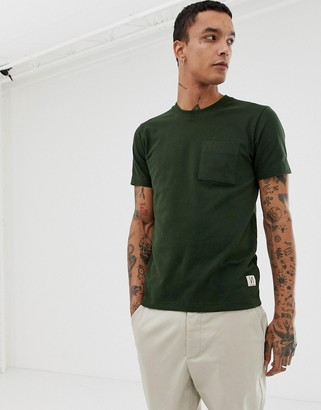 Nudie Jeans Kurt one pocket t-shirt in green