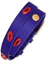 Tory Burch Double-Wrap Lips-Stud Bracelet