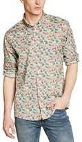 New Man Men's Fitted Waist Long sleeve Casual Shirt