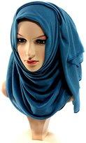 Uphily Soft Scarves For Hijab Caps Shawl Muslim Headscarf Cotton Jersey Hijab Scarf