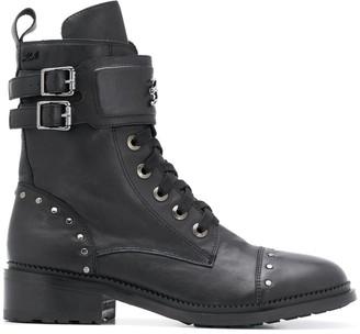 Karl Lagerfeld Paris Danton stud-embellished ankle boots