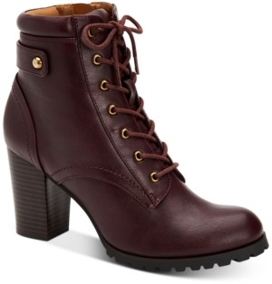 Style&Co. Style & Co Cassyn Lace-Up Ankle Booties, Created for Macy's Women's Shoes