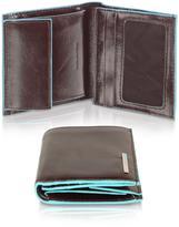 Piquadro Blue Square-Men's Leather ID Wallet