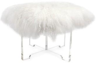 Jonathan Adler Mongolian Lamb Fur Bench