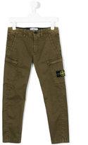 Stone Island Junior - logo patch cargo trousers - kids - Cotton/Spandex/Elastane - 6 yrs