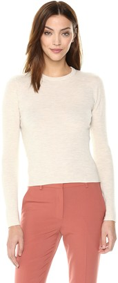 Theory Women's 3/4 Sleeve Ribbed Crewneck Sweater