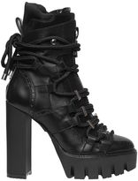 DSQUARED2 130mm Rope Lace-Up Leather Boots