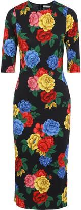 Alice + Olivia Delora Floral-print Stretch-jersey Midi Dress