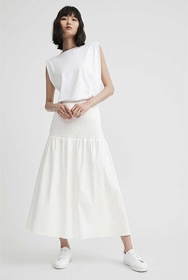 Witchery Shirred Cotton Skirt