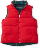Ralph Lauren Girls 2-6x Reversible Down Vest